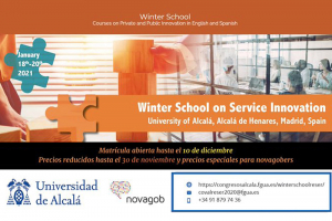 Últimos días para realizar la matrícula de la Winter School on Service Innovation de la UAH