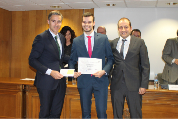 A student of the UAH, awarded for his Final Degree Project in the field of Engineering
